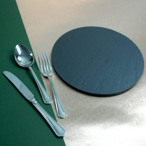 230mm diameter Blue Grey Welsh Slate Place-mat, available in various quantities