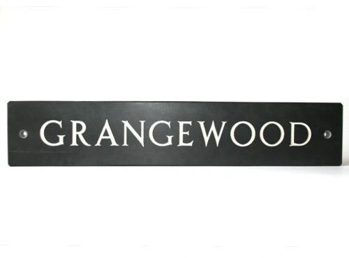Roman Font Name Plate - Welsh Slate House Sign All capital letters font