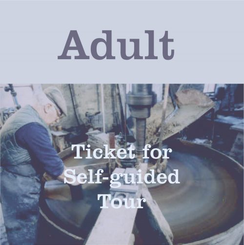 Button to buy Adult Tour Ticket for The Great Slate Tour at Inigo Jones Slate Works. A Self Guided Tour.
