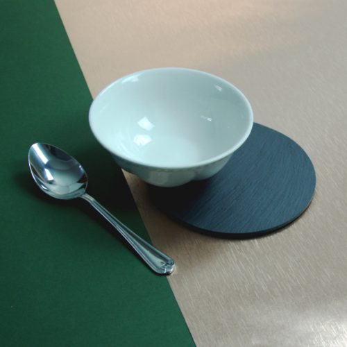 150mm diameter Blue Grey Welsh Slate Place-mat, available in various quantities