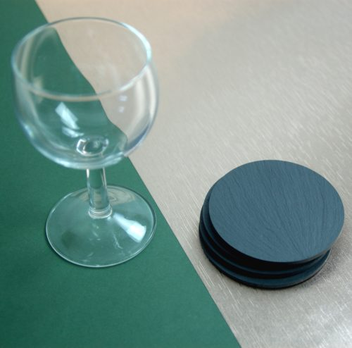 Approximately 85mm Diameter Blue Grey Welsh Slate Round Coasters available in various quantities
