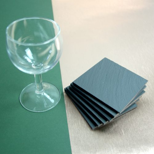 Blue Grey Welsh Slate Square Coasters available in various quantities