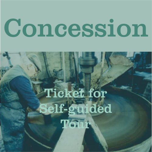 Button to Buy Concession Tour Ticket for The Great Slate Tour at Inigo Jones Slate Works. A Self Guided Tour