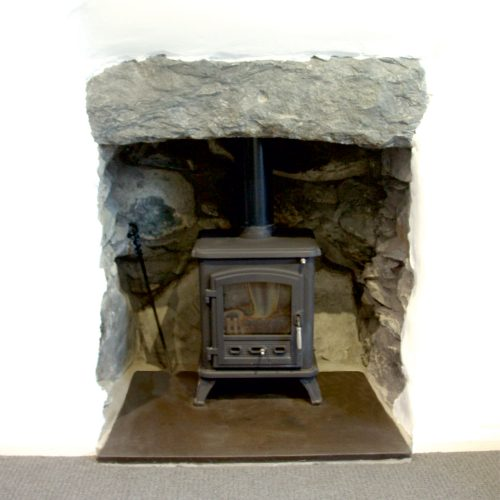 Welsh Slate Hearth with Multi fuel Stove
