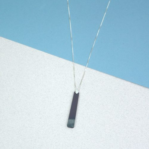 Polished Welsh Slate Pendant Necklaces on Silver Chain. Presented in Gift Box