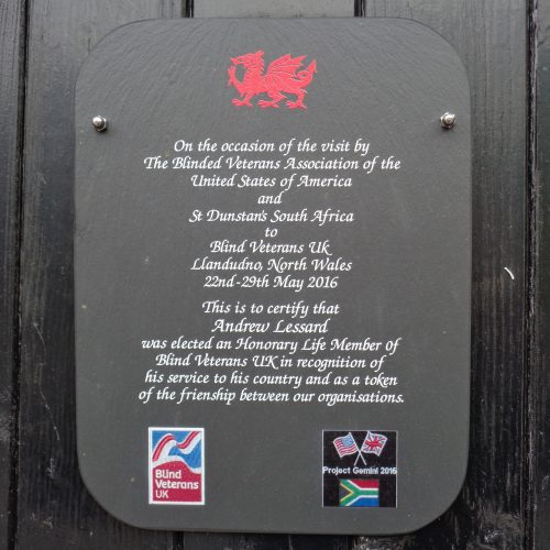 Custom Hanging Printed Welsh Slate Plaque