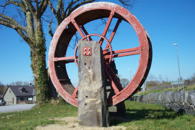 Water Wheel used at Inigo Jones Slate Works from 1861 -1960's