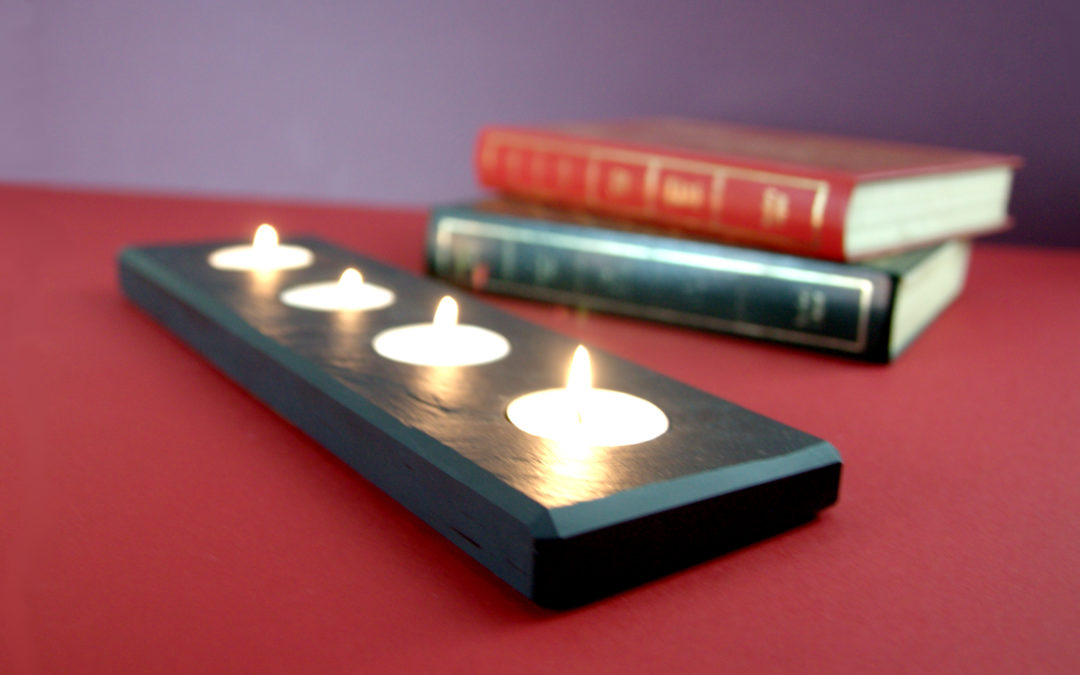 Tealight Candle holder By Inigo Jones Slate Works, North Wales