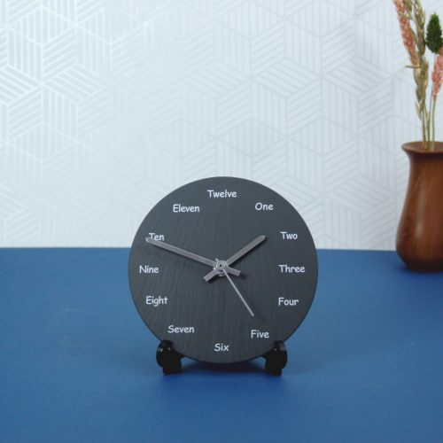 Welsh Slate Wall Clock English wording dial Inigo Jones Slate Works