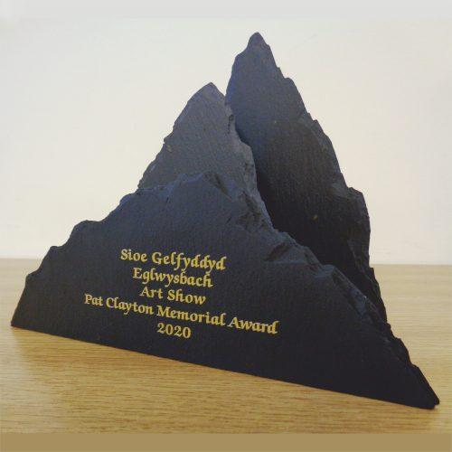 Hand Shaped Dressed Edge three element Trophy