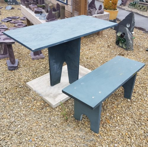 Slate Bench and Table. Available Constructed or Deconstructed - flat-pack