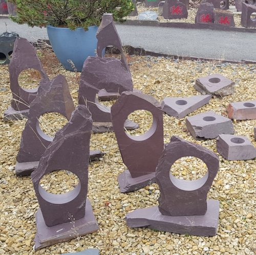 Welsh Slate Craft Ornaments for the Garden. Heather Blue Welsh Slate Landscaping Products