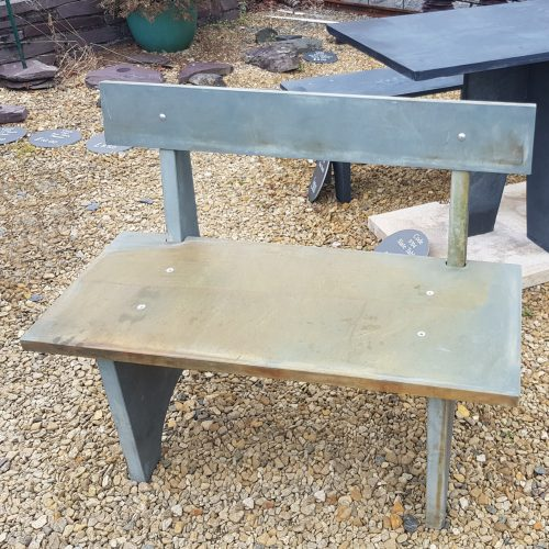 Slate Bench with Back Rest, available whole or fully deconstructed