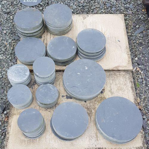 Blue Grey Welsh Slate Stepping Stones, Varying sizes