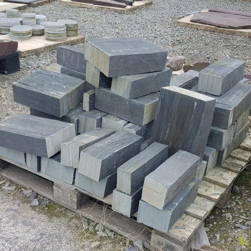 Blue Grey Welsh Slate Walling Blocks, Varying sizes