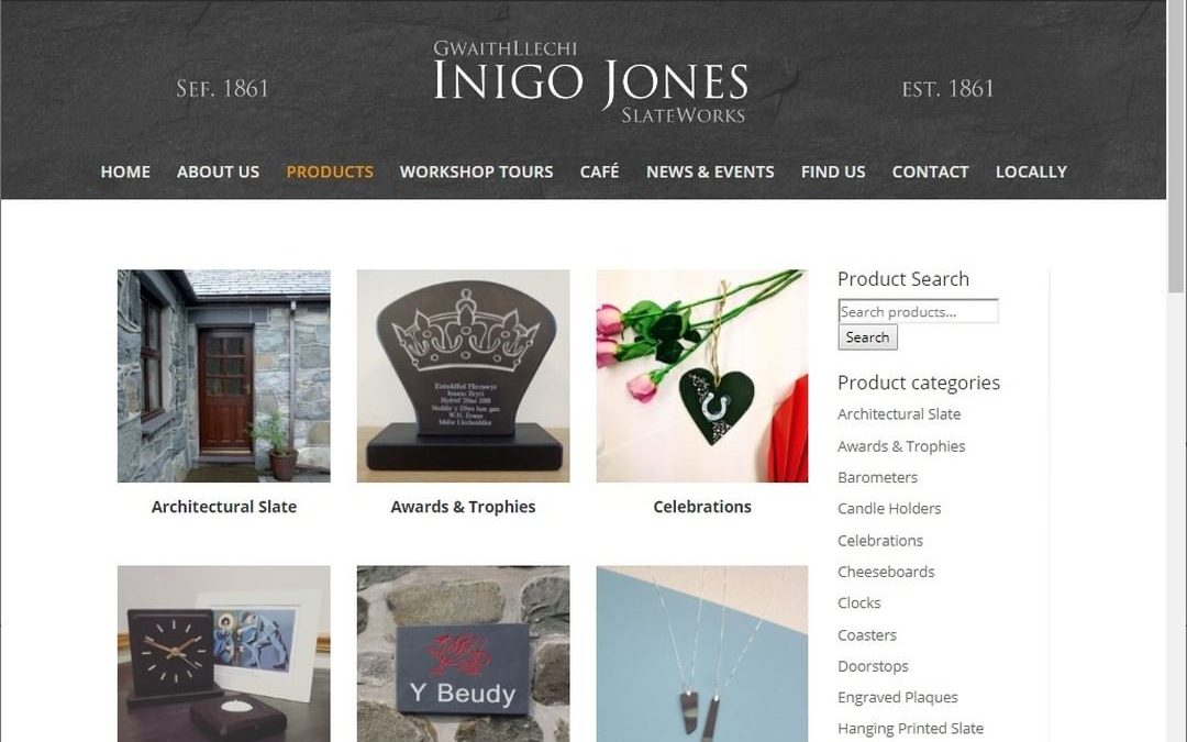 Website preview- Welsh Slate Product Category Page