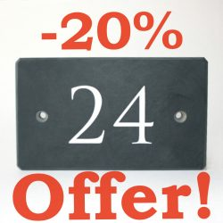 Claim -20% offer on Welsh Slate Number House Signs