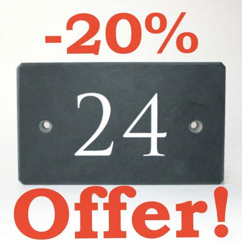 Claim -20% offer on Welsh Slate Number House Signs
