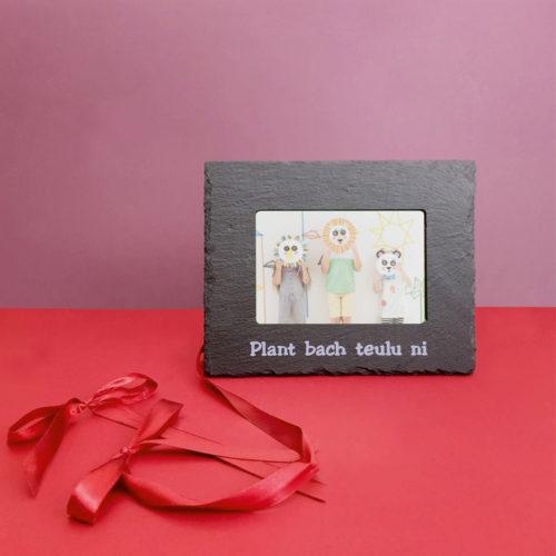 Plant Bach Teulu Ni 6x4 Photo Frame Silver Inigo Jones Slate Works