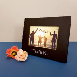Teulu Ni (Our Family) 6x4 Photo Frame White Inigo Jones Slate Works