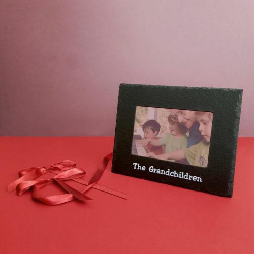The Grandchildren 6x4 Photo Frame White Inigo Jones Slate Works