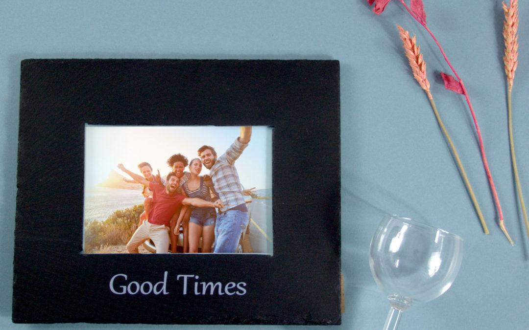 Inigo Jones Slate Works Slate photo frame - Good times