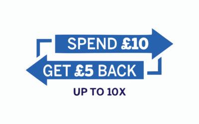 Spend £10 Save £5!
