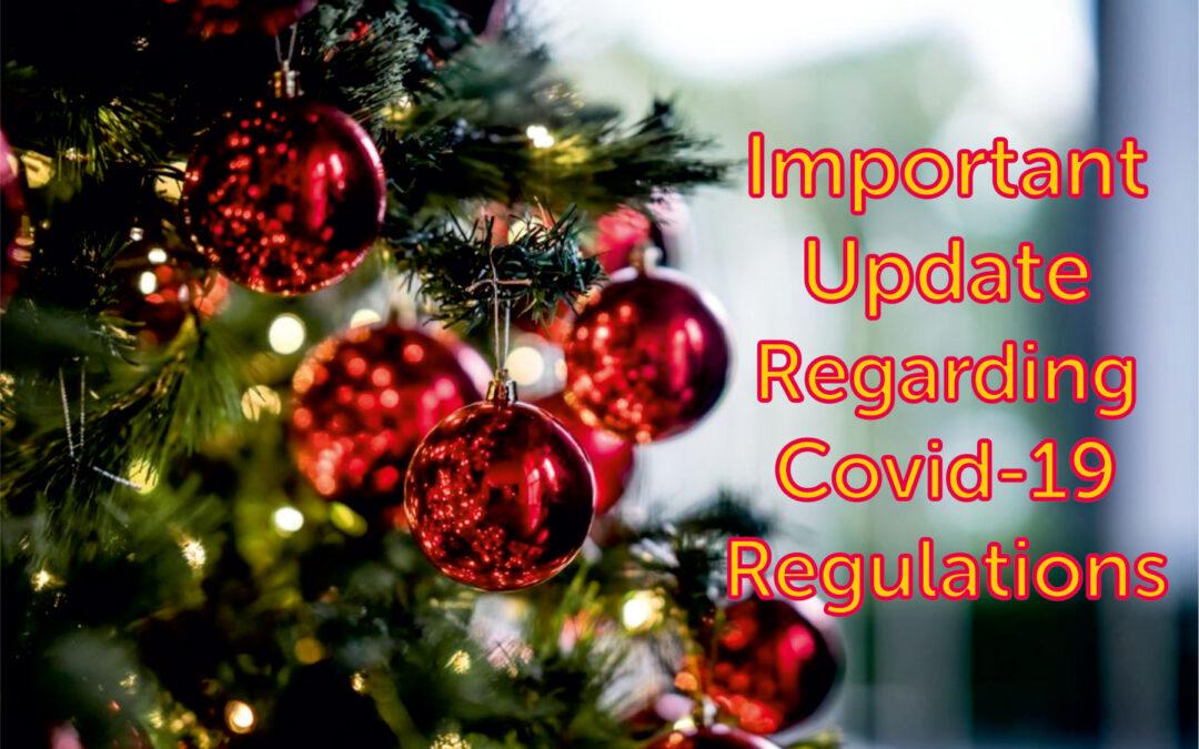 Important Updates Regarding Covid -19 Regulations at Inigo Jones Slate Works